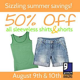 Shorts and Sleeveless Shirts Sale