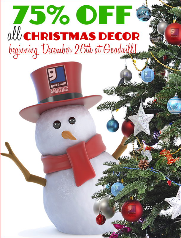 all christmas decor is 75 percent off beginning december 26th - 75 Off Christmas Decorations