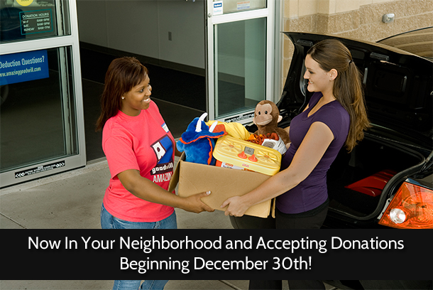 Bloomingdale store to begin accepting donations December 30th!