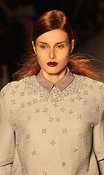 Hair and makeup - dark lip