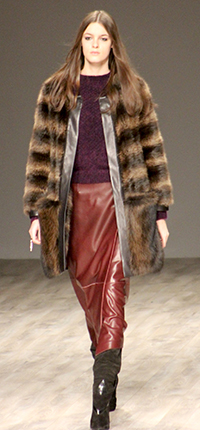 leather and fur combo