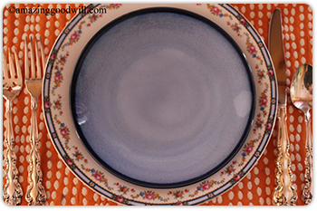 Blue Easter dishes
