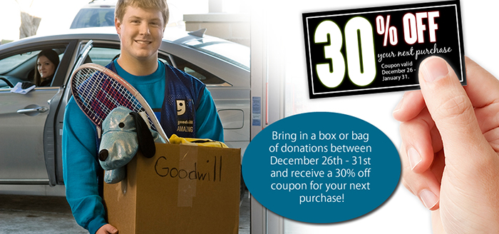 Make a donation and receive 30 percent off your next purchase!