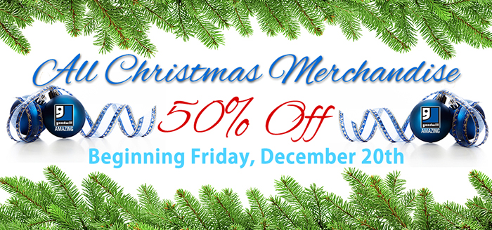 Take 50% Off All Christmas Merchandise!