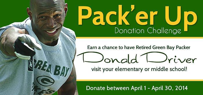 Pack'er Up Donation Challenge