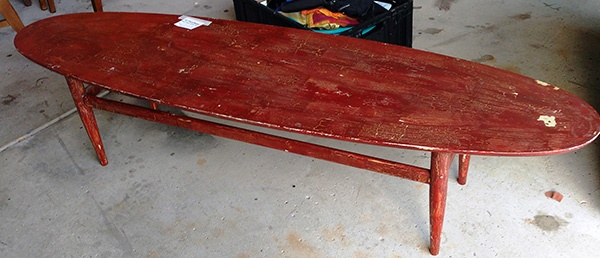 Amazing Find at Goodwill - surfboard table