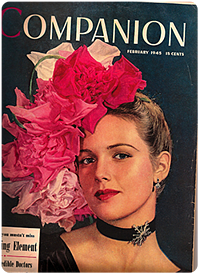 vintage 1945 copy of Woman's Home Companion magazine