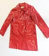 Michael Kors red patent leather coat