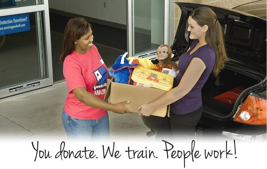 You donate. We train. People work.