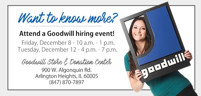 Attend a Goodwill Job Fair in Arlington Heights!
