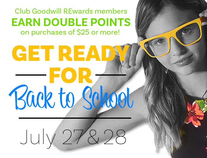 Get ready for back to school and earn double points!