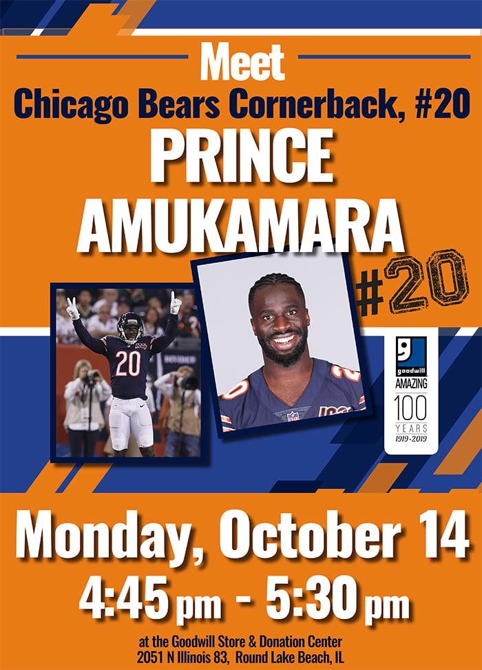 Meet Bears Cornerback Prince Amukamara at Goodwill!
