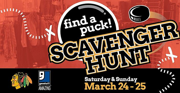Join the Blackhawks Find a Puck Scavenger Hunt at Goodwill!