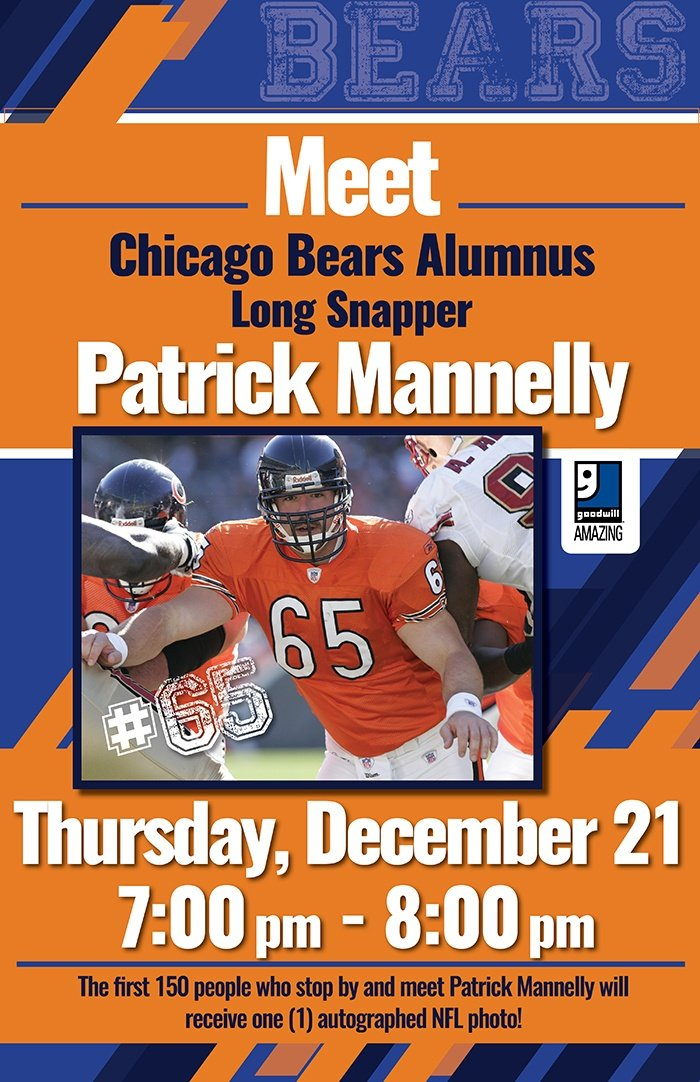 Meet Chicago Bears Alumnus Patrick Mannelly at Goodwill
