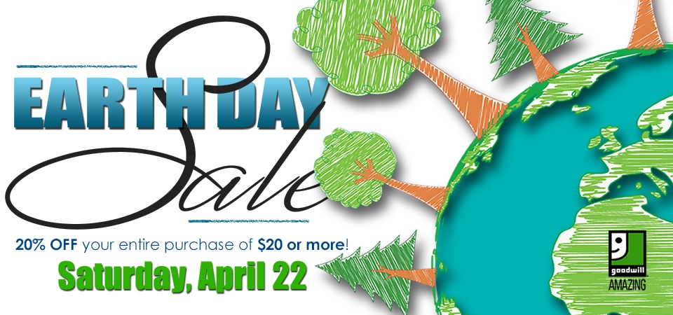 Goodwill Earth Day Sale