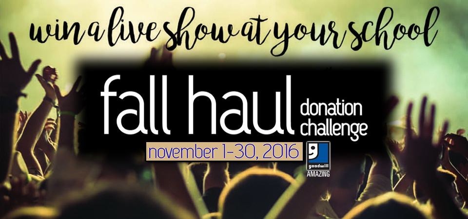 The Fall Haul Donation Challenge Going on Now!