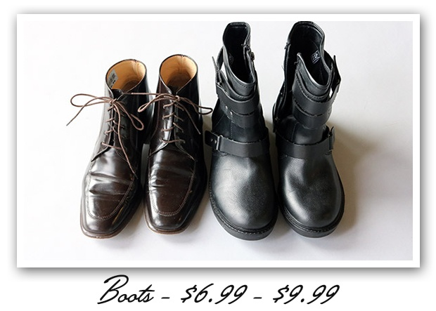boots, boots and more boots
