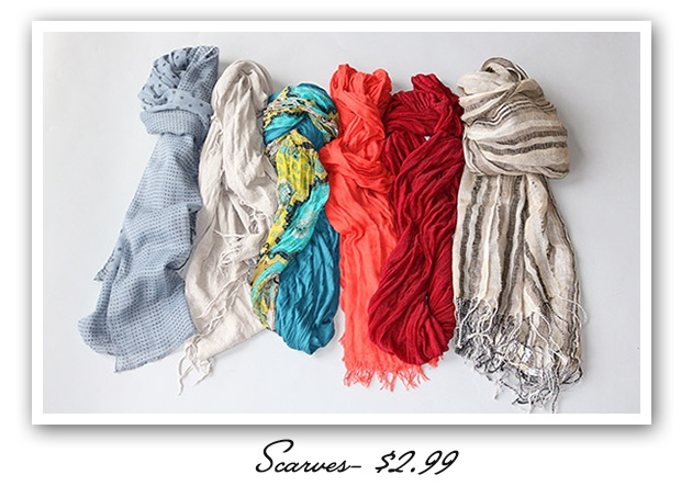 There's no such thing as too many scarves!