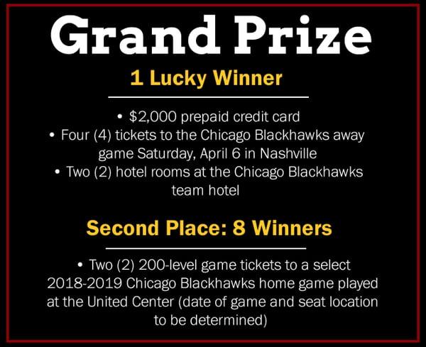 Find the Puck Scavenger Hunt - Prizes