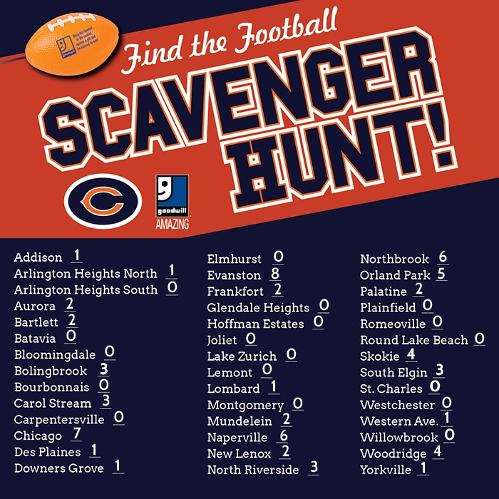 Find the Football Scavenger Hunt Numbers