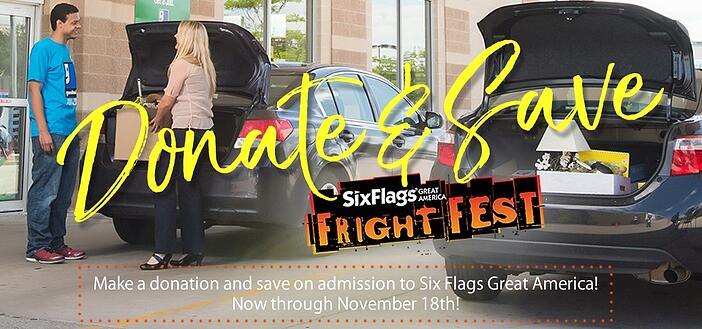 Donate to Goodwill and save on tickets to Fright Fest at Six Flags Great America!