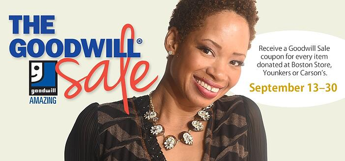 Shop and Save during the Goodwill Sale!