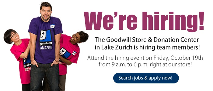 Work for Goodwill in Lake Zurich