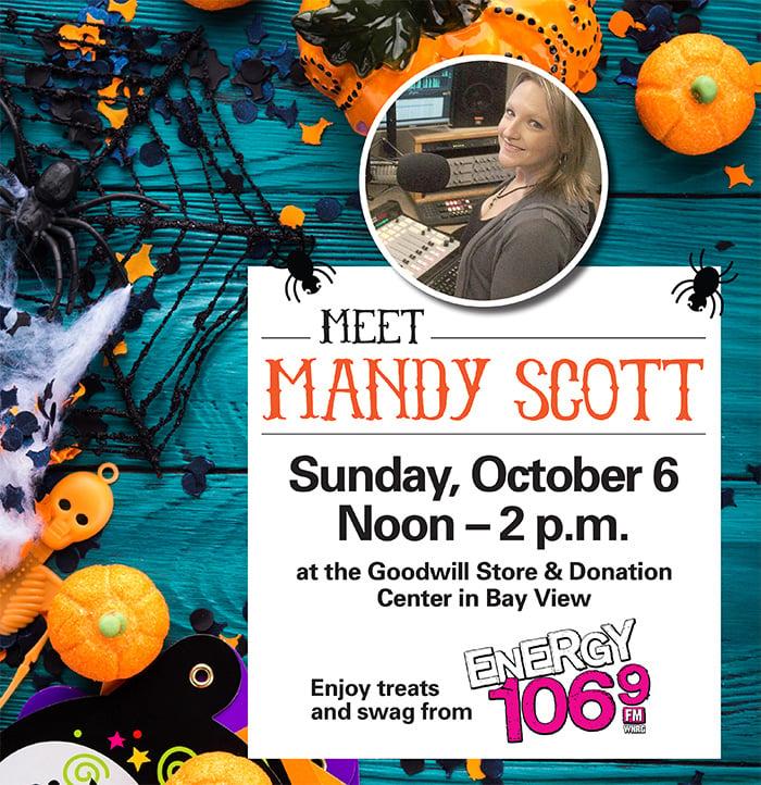 Meet Mandy Scott at Goodwill in Bay View