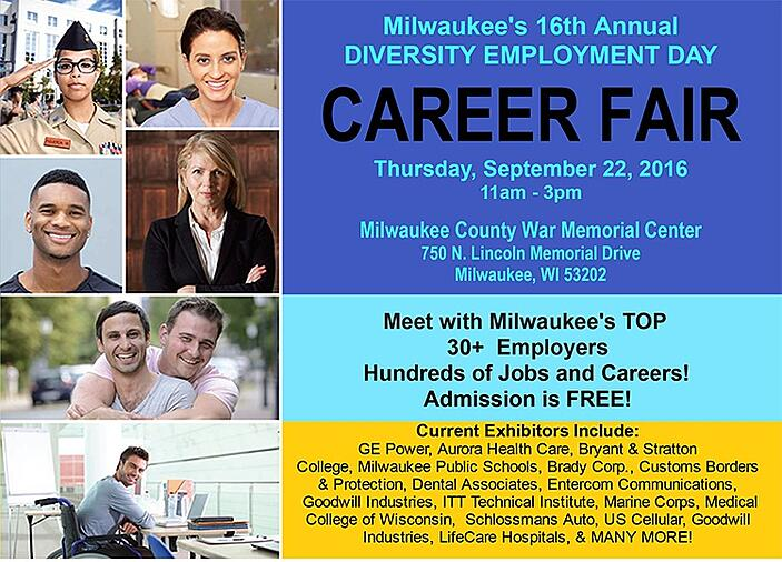 Milwaukee 16th Annual Diversity Employment Day Career Fair