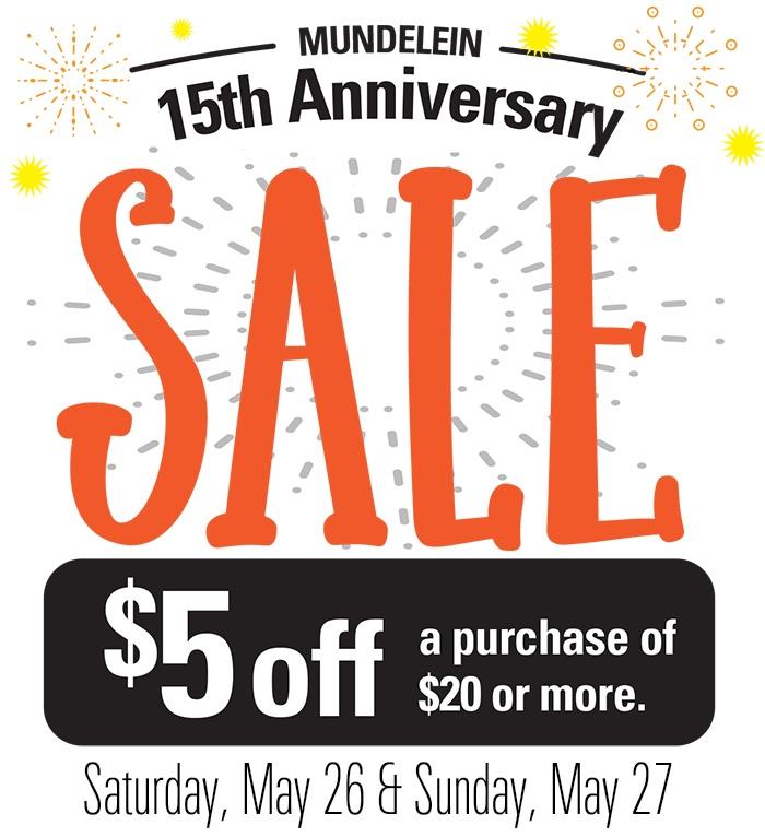 Mundelein Anniversary Sale