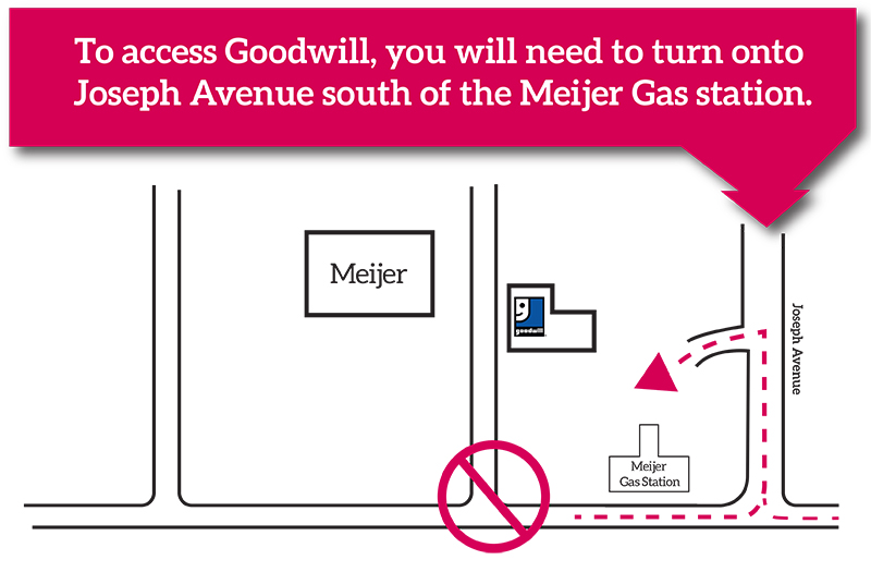 New construction access to Goodwill in Plainfield