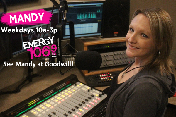 Join Energy 106.9's Mandy at the Goodwill Store and Donation Center in Franklin!