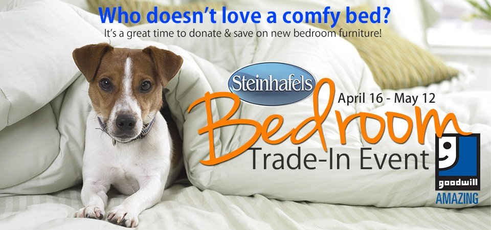 Goodwill and Steinhafels Bedroom Trade-In Event