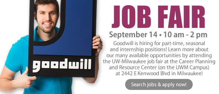 Learn More About Goodwill at the UWM Job Fair