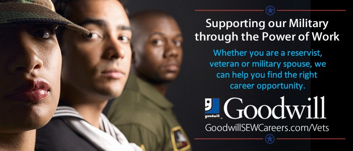 Goodwill supports our Military through the Power of Work