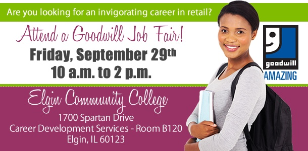 Work for Goodwill in Batavia or South Elgin