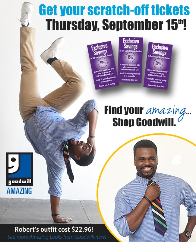 Get your scratch-off tickets this Thursday at Goodwill!