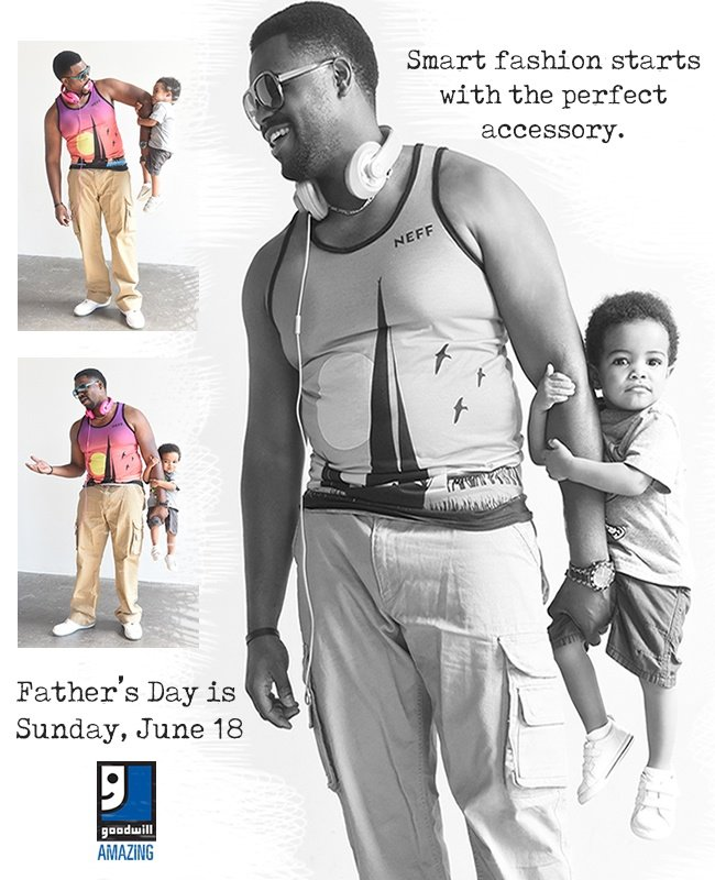 Shop Goodwill for Father's Day on June 15th