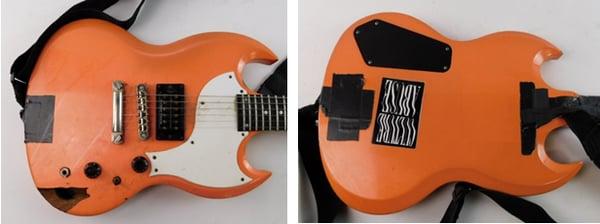 Photos of the Gibson SG-X as shown on ShopGoodwill.com