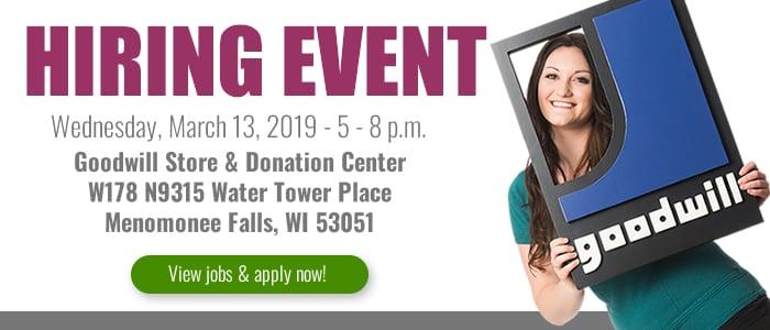 Attend a Goodwill Hiring Event in Menomonee Falls