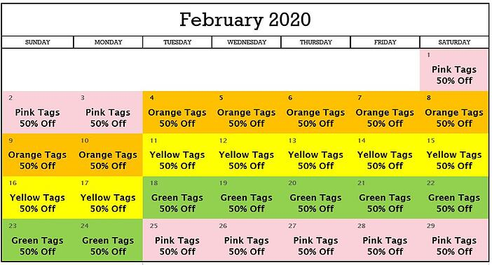 February 2020 AmazingGoodwill Tag Sale