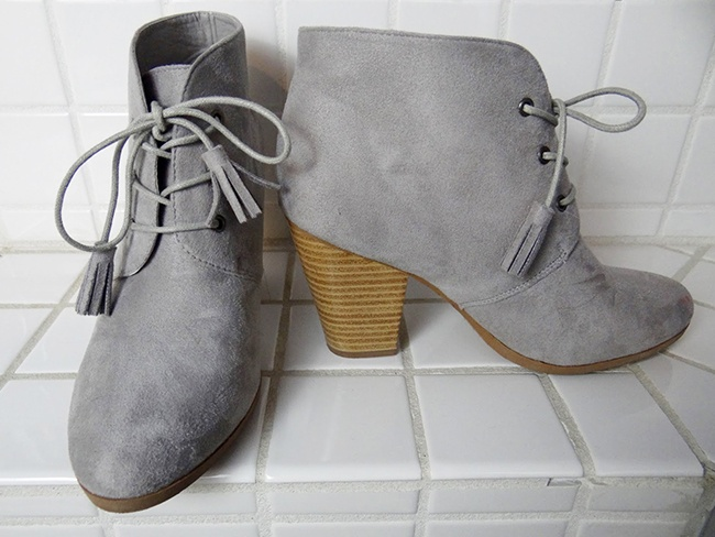 Journee Collection Wen Faux Suede Lace Up Booties