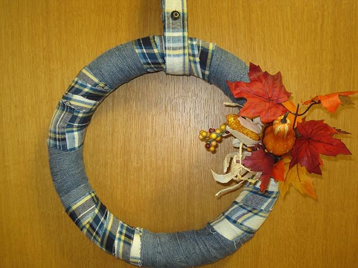 DIY Flannel Wreath