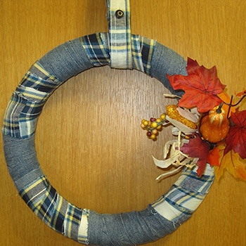 Flannel wreath