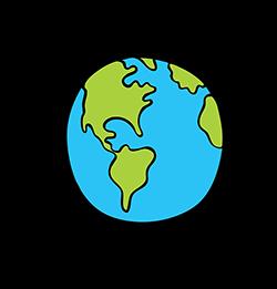 Earth iron-on
