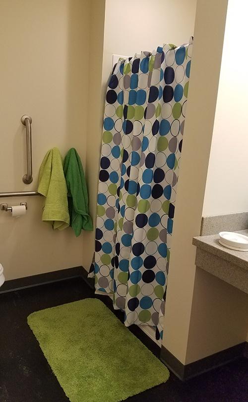 Dorm room bathroom