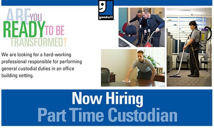 Goodwill Now Hiring - Custodian