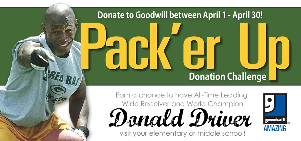 Goodwill's Pack'er Up Donation Challenge 2017