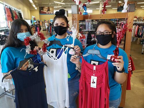 4th of July merchandise at Goodwill Store & Donation Center in West Alli