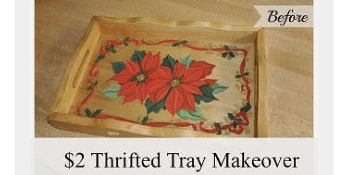 Thrifted Tray Makeover